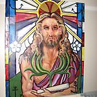 "Steinglass image of Jesus-Symbolical meanings ""Immortality,The Triumphal Entry"" by JeffeeArt4u"
