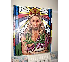 """Steinglass image of Jesus-Symbolical meanings """"Immortality,The Triumphal Entry"""" Photographic Print"""