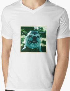 Crazy Face Mens V-Neck T-Shirt