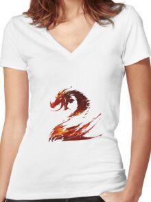 Guild Wars 2 Design Women's Fitted V-Neck T-Shirt