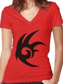 Shadow the Hedgehog Logo black Women's Fitted V-Neck T-Shirt
