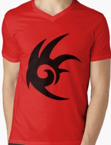 Shadow the Hedgehog Logo black Mens V-Neck T-Shirt