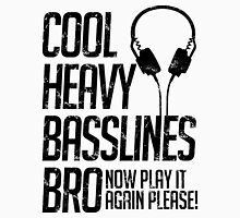 Cool Heavy Basslines Bro. Now Play It Again Please! Mens V-Neck T-Shirt
