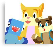 Minecraft Youtuber Stampy Cat, iBallisticsquid, L for Lee x Canvas Print