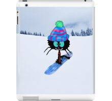 Snowboarding Cat iPad Case/Skin