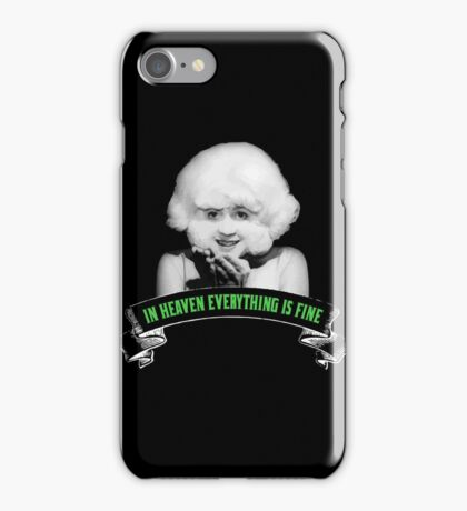 The lady in the radiator iPhone Case/Skin