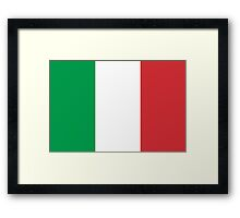 Flag of Italy - High quality authentic version Framed Print