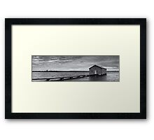 Crawley Edge Boatshed - Perth WA  Framed Print