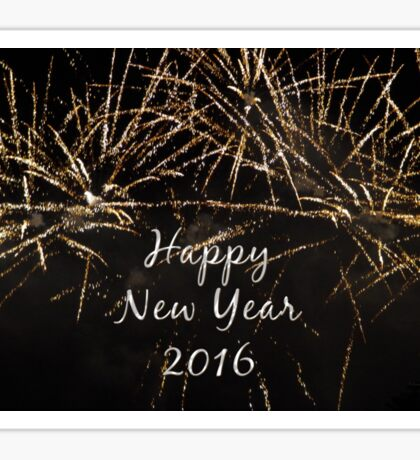 Happy New Year 2016 Sticker