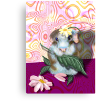 Herbie Hamster, animal whimsy Canvas Print