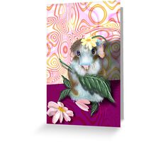 Herbie Hamster, animal whimsy Greeting Card