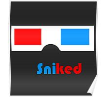 Sniked 3D Glasses Poster