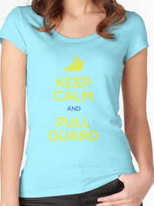 Keep Calm and Pull Guard (Jiu Jitsu) Women's Fitted Scoop T-Shirt
