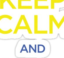 Keep Calm and Pull Guard (Jiu Jitsu) Sticker
