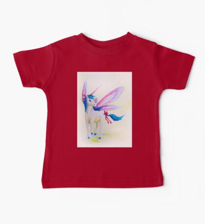Blue Mane Fairy Unicorn  Baby Tee