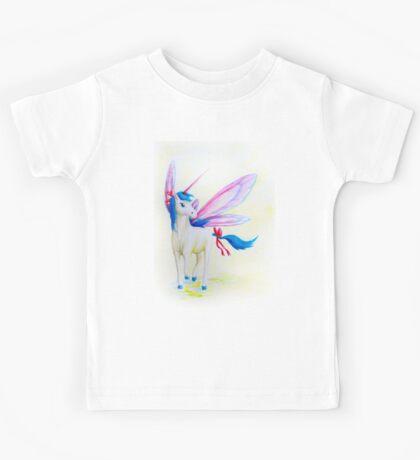 Blue Mane Fairy Unicorn  Kids Tee
