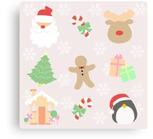 Santa & His Helpers #1 Canvas Print