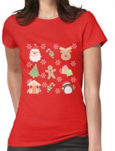 Santa & His Helpers #1 Womens Fitted T-Shirt