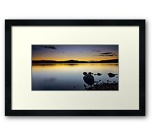 Dawn in the Alps Framed Print