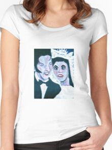 F@#ked Up Elvis Women's Fitted Scoop T-Shirt