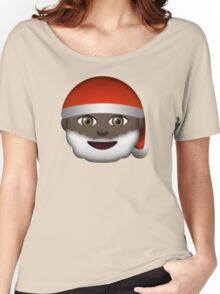 Emoji Santa Black Women's Relaxed Fit T-Shirt