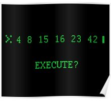 LOST: The Numbers - Execute Poster