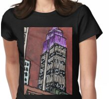 purple empire state Womens Fitted T-Shirt