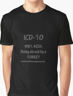 ICD-10 Must be specific: Was that a turkey?  Was he being helped by a duck? Graphic T-Shirt