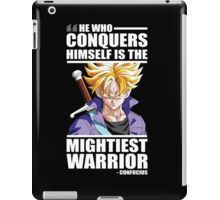 He Who Conquers Himself Is The Mightiest Warrior - Future Trunks iPad Case/Skin