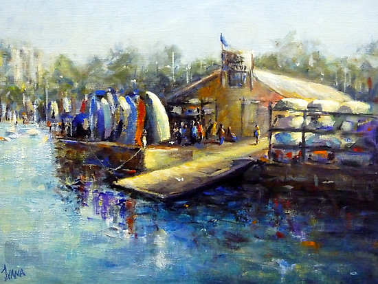 The boat shed in Williamstown by Ivana Pinaffo