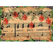 Holly Jolly Christmas Photographic Print