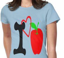 ღ♥I Love Apple Clothing & Stickers♥ღ Womens Fitted T-Shirt
