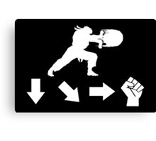 Street Fighter - Hadouken Canvas Print