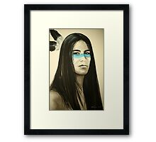 Native Blue Framed Print