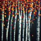 Autumn Birches by rubylily