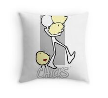 Chicks are a handful!! Throw Pillow