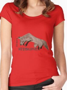 Red Fox Ink & Brush Women's Fitted Scoop T-Shirt