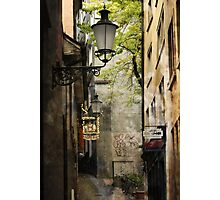 Hidden alleyway - Zurich Photographic Print