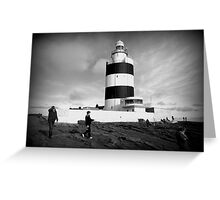Hook Lighthouse, Wexford Ireland. Greeting Card