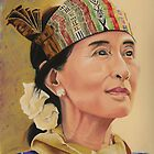 Aung San Suu Kyi by Colombe  Cambourne