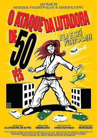 Attack of the 50 Foot Lutadora by Meerkatsu