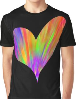 Cool Tie-Dye Heart Graphic T-Shirt