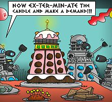 The Dalek Birthday Party by ToneCartoons