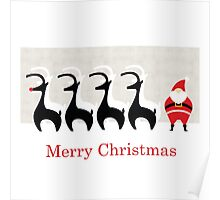 Merry Christmas from Santa, Rudolph & Friends Poster