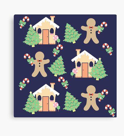 Gingerbread man & gingerbread house #2 Canvas Print