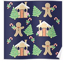 Gingerbread man & gingerbread house #2 Poster