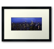 Lights of Manhattan Framed Print