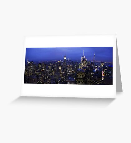 Lights of Manhattan Greeting Card
