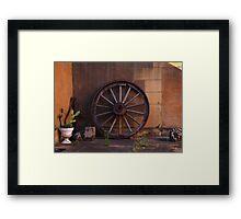 Wheel from Yesteryear Framed Print