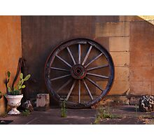 Wheel from Yesteryear Photographic Print